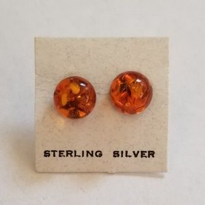 Jewelry - Sterling Silver Amber (Polish) earrings